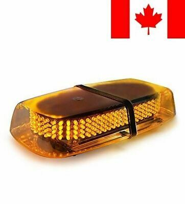 Xprite Amber Emergency Hazard Warning LED Mini Bar Strobe Light w/ Magnetic Base