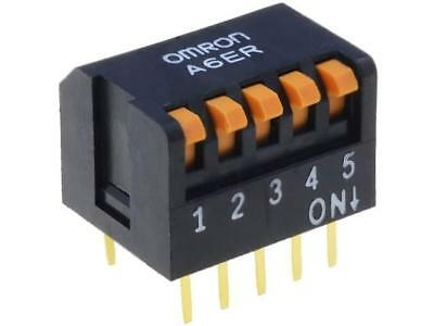 A6ER-5101 Switch DIP-SWITCH Poles number5 ON-OFF 0.025A/24VDC 100MΩ OMRON