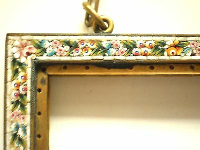 Brass Mosaic Purse Frame Two Sided Lovely
