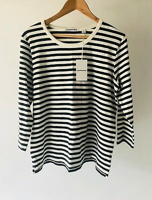 COUNTRY ROAD [CR LOVE] NEW! [SZ M,XL] 3/4 sleeve jersey stripe top tee 12,16