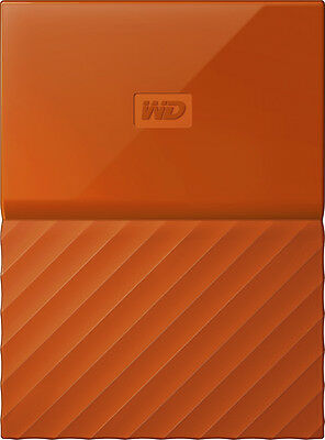 WD - My Passport 1TB External USB 3.0 Portable Hard Drive - Orange