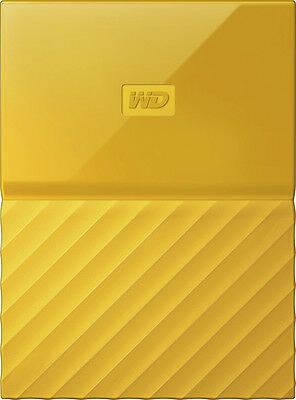 WD - My Passport 1TB External USB 3.0 Portable Hard Drive - Yellow