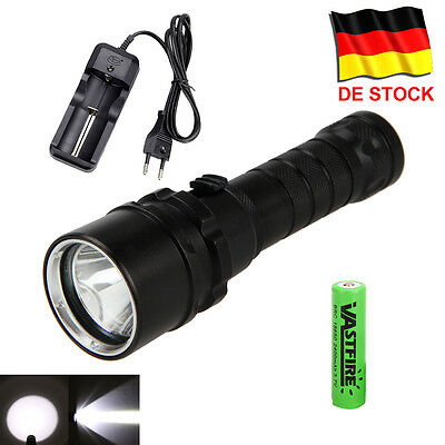 8000LM XM-L2 LED SCUBA DIVING Taschenlampe Tauchlampe bis 100m Flashlight 18650