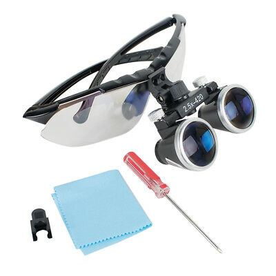 High-end Luxury Dental Surgical Medical Binocular Loupes 2.5X 420mm Magnifier