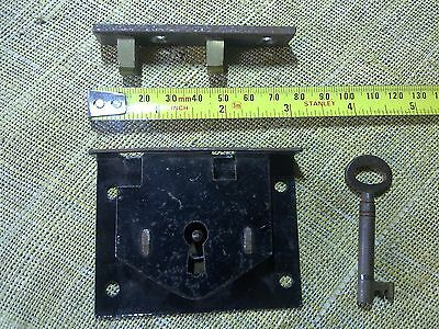 trunk or chest or box lock, 76 mm, antique or vintage (DP1)