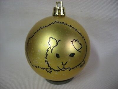 New Handpainted Guinea Pig Unbreakable Christmas Ornament