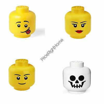 Lego Storage Heads For Toys Bricks Games - Assorted Sizes Boys And Girls