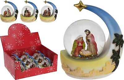 Mini Christmas Nativity Scene Snow Globe Snowglobe Nativity Christmas Decoration