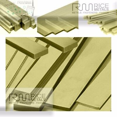 """FLAT BAR BRASS - 1/2"""" - 2"""" ALL SIZES LENGTHS 50mm - 3000mm AND 4000mm Available"""