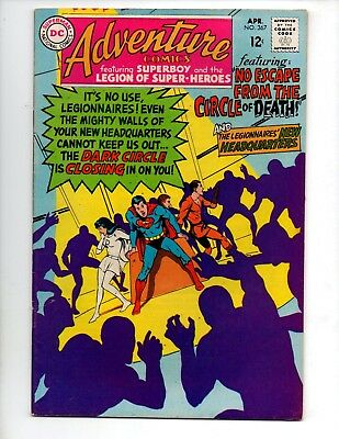 "Adventure Comics #367 (Apr 1968, DC) VF 8.0 ""NEW LEGION HEADQUARTERS; N. ADAMS-C"