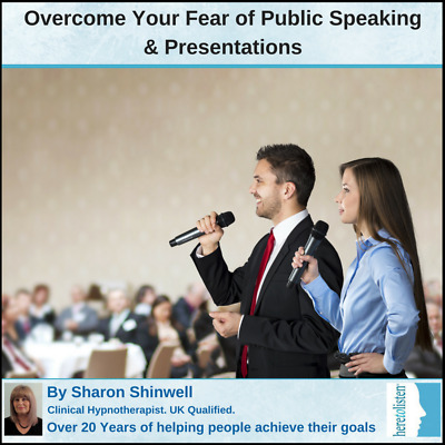 Fear of Public Speaking, Delivering Presentations. Self-Hypnosis Audio CD