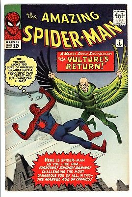 Amazing Spider-Man #7 Vol 1 Very High Grade 2nd Appearance of the Vulture