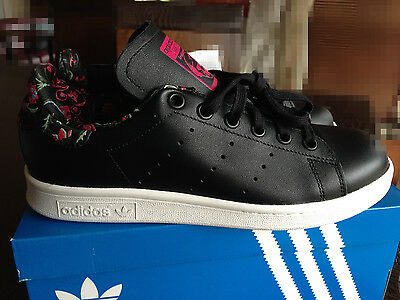 pretty nice 50337 c5d48 AUTH NIB ADIDAS Originals Stan Smith Black Embroidered Sneaker Size us6  eu37.3