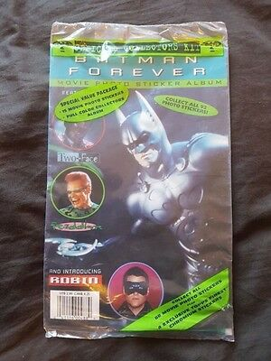 BATMAN FOREVER Official Collectors Kit Sticker Album New Sealed 1995 Topps