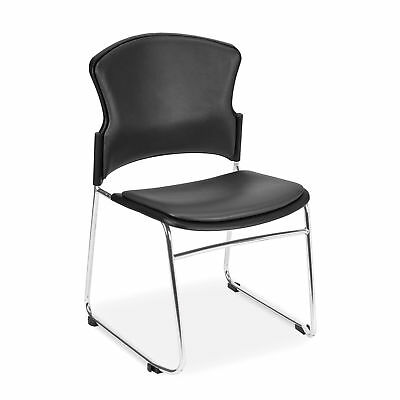 Anti-Microbial/Anti-Bacterial Stack Chair, Charcoal 4 pk