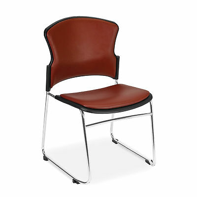 Anti-Microbial/Anti-Bacterial Stack Chair, Wine 4 pk