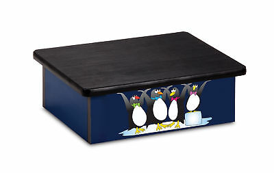 "Pediatric Step Stool 16""W x 20""L x 7""H Penguin Theme 1 ea"
