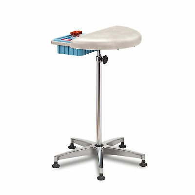 Half Round, Stationary, Padded Phleb Stand, CAL133, WhiteOften 1 ea