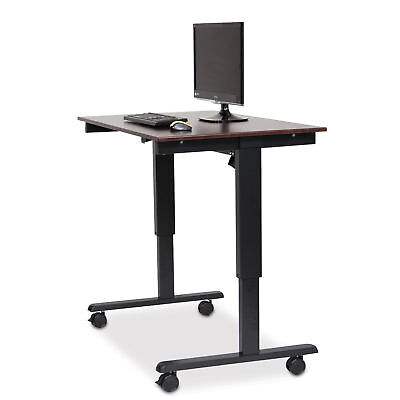 """Electric Stand Up Desk 48""""W Stand Up Desk, Electric, 48"""", Black Frame, Dark W..."""