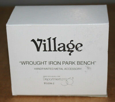 Dept 56 Wrought Iron Park Bench Accessory w/ Box
