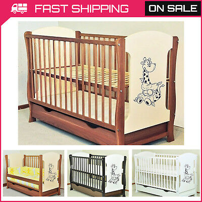New Baby Cot With Drawer/Junior Bed/Selection Of Mattress Free Delivery 3 Colour
