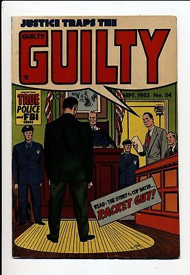 Justice Traps The Guilty #54 Vg/fn 1953