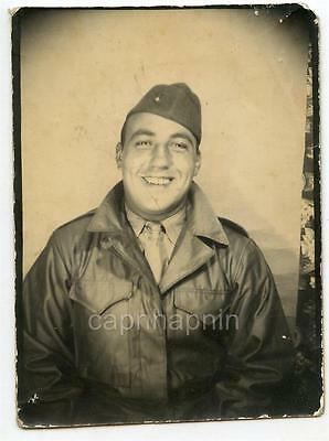 WWII or Korea US Marine Vintage Photobooth Photo Marine Corps USMC