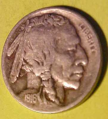 1916-S Buffalo Nickel ~Rare Date ~Nice Gem Circulated ~Sharp Horn ☆Make A Offer☆