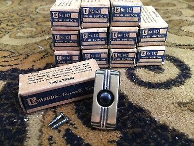Vintage Edwards Push-Button DOORBELL Ringer New Old Stock In Box No.632