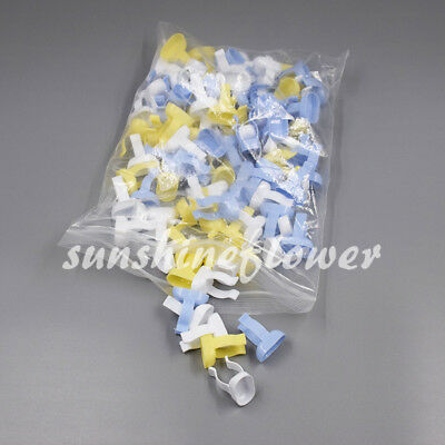 100x Dental Plastic Disposable Handy Prophy Finger Ring Bowls Cup Mixing Tools