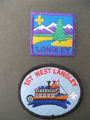 Boy Scouts Canada 2 Langley 1St West Langley Embroidered Patches Wolf Cubs
