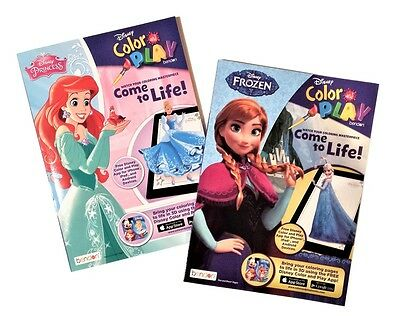 Disney Princess Frozen Kids Coloring Book And Activity Books Set Of 2 NEW