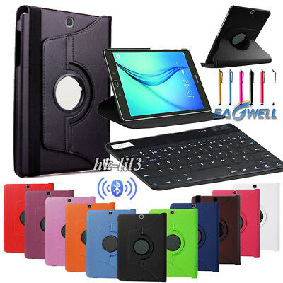 Rotating Leather Case Bluetooth Keyboard for Samsung Galaxy Tab E 9.6 T560 T567
