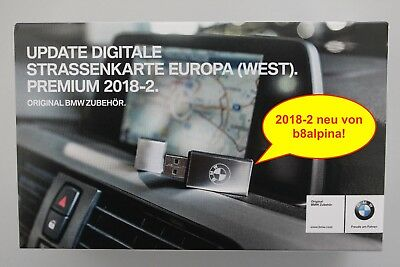 ORIGINAL - BMW NAVI UPDATE PREMIUM - WEST-Europa  2018-1 / USB-Version