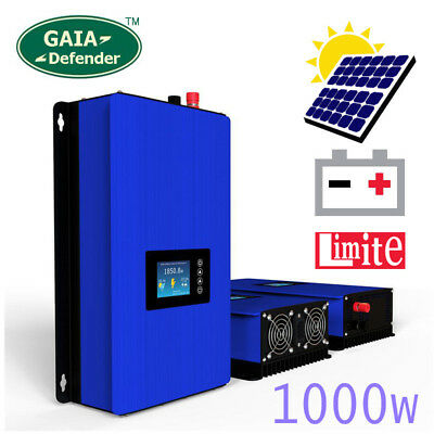 1000W on Grid Tie Inverter with Limiter SUN 1000G2TIL for Energia Solare/Battery