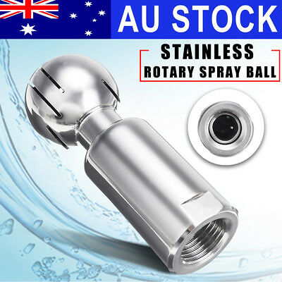 """AU 1/2"""" 360° Rotary Sanitary Tank Cleaning Spray Ball Female Fix Stainless Steel"""