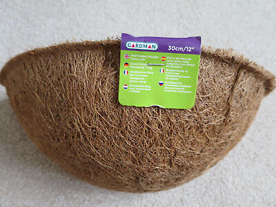 "Guardman Wall Basket Coco Liner 30cm/12 "" - NEW"