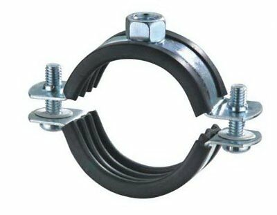 35mm Dual Bossed Rubber Lined Clamp Pipe Clip