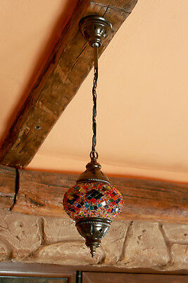 Chandelier Handmade Turkish Mosaic Hanging Lamp Light Ceiling Stained Glass