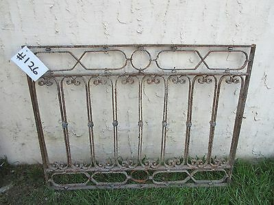 Antique Victorian Iron Gate Window Garden Fence Architectural Salvage Door #126