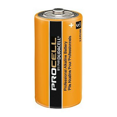 CASE 12 NEW DURACELL PROCELL SIZE C Alkaline Batteries