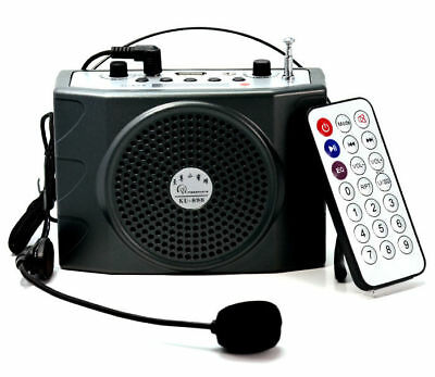 25W Voice Booster Amplifier+Remote+FM Wireless Microphone For Speaker Teacher