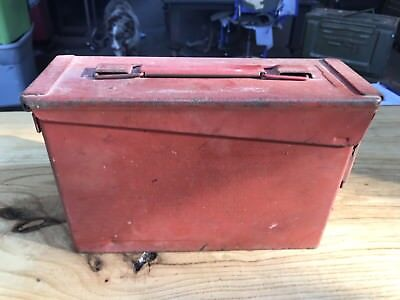 AMMO Can Box US Army Military 7.62MM Ammunition Metal Storage RED