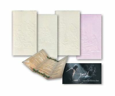 Glory in Excelsis Deo White and Pink Traditional Oplatki Christmas Wafers Set...