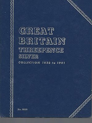 Great Britain Threepence Silver 1838-1901 Whitman Folder NOS