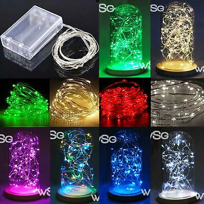 LED String Fairy Lights Wedding Party Garden Decoration Silver Wire