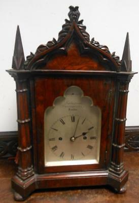 rosewood double fusee victorian gothic bracket  clock   [leplaistrier --- london