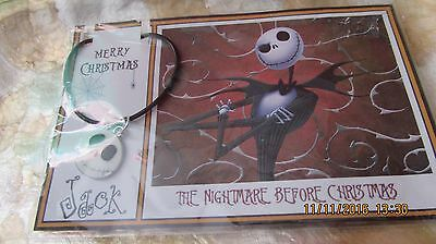 THE NIGHTMARE BEFORE CHRISTMAS, JACK PENDANT, gift packaged, new ( metal smile)