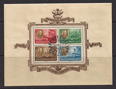 HUNGARY SC B198A-D used cancelled full gum