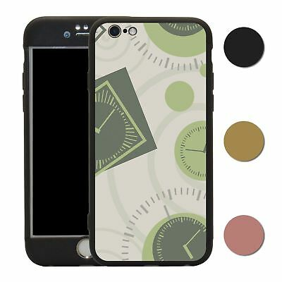 Clock 360° Case & Tempered Glass Cover For iPhone - S2570